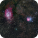 M8 and M20 - Lagoon and Trifid Nebulas,                                Tom