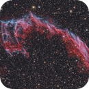 NGC6992 - Eastern Veil Nebula in Cygnus,                                Stellario