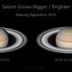 Saturn grows bigger, brighter (animation),                                Darren (DMach)