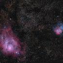 Lagoon and Trifid Nebulae,                                Eric Seavey