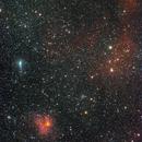 cometa C/2017 T2 Panstarrs in un campo ricco di nebulose,                                Rolando Ligustri