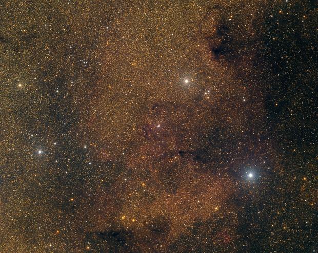 Nébuleuse constituée d'hydrogène ionisée (HII), constellation du Compas,                                Roger Bertuli