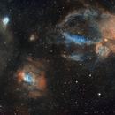 Bubble Nebula Region Widefield Mosaic (2x2),                                Phil Brewer