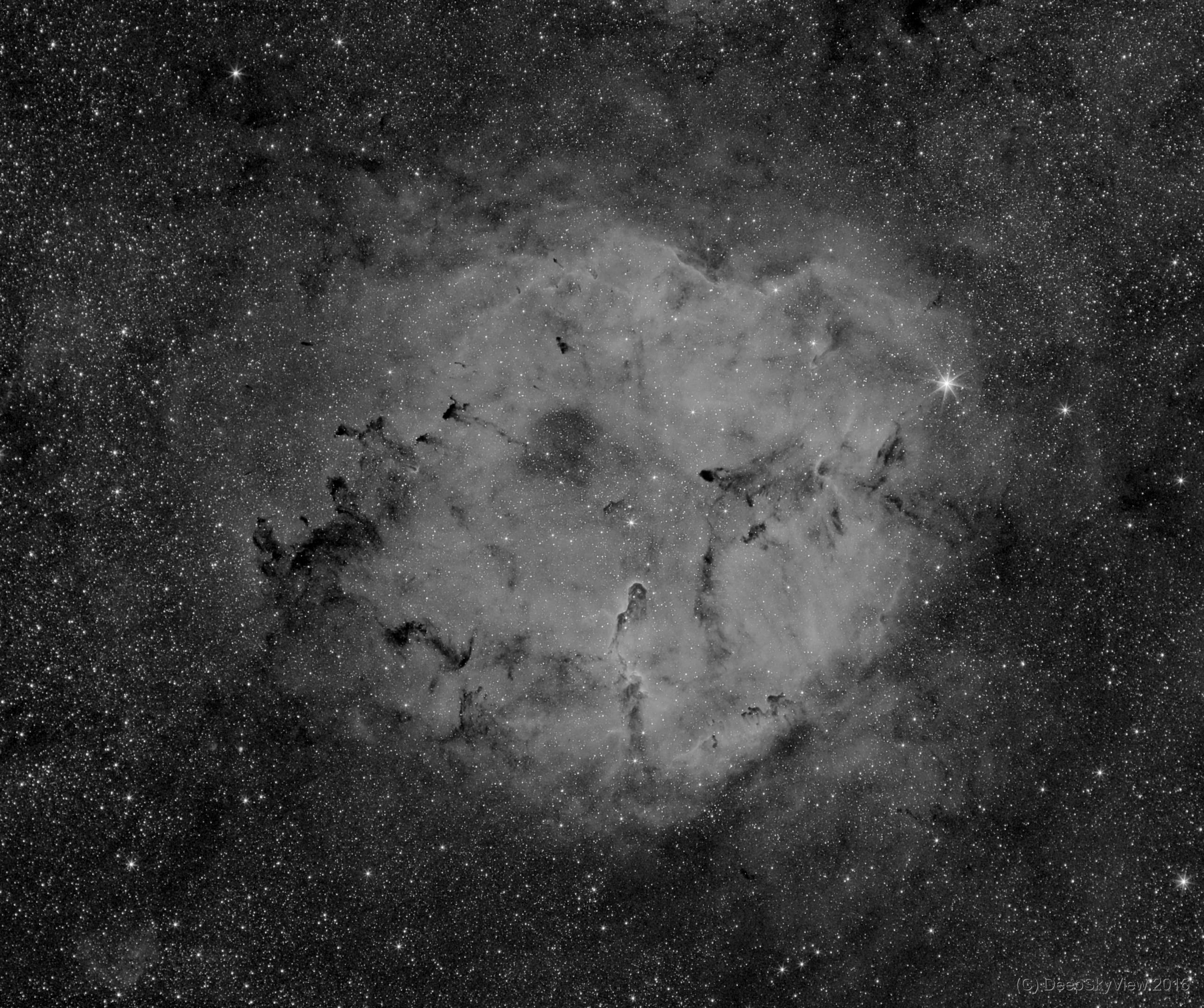 IC 1396 – Emission Nebula in Cepheus – Mono,                                DeepSkyView