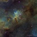 IC 1805 Hubble palette,                                FrancescoTallarico