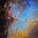 M16  - Nebulosa Aquila e Pilastri della Creazione,                                Francesco Di Cencio