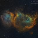 IC 1848 -Soul nebula - Hubble Palette -  reworked,                                Paul Schuberth