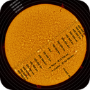 High Res Full Disc Solar Mosaic with an Overlay for Measuring of Solar Activities,                                Fernando