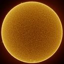 Sol - Full Disc - 19 October 2019 1700 CDT (Ha),                                Dennis Carmody