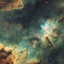 IC 1805 the Heart Nebula in Hubble Palette SHO,                                Abraham Jones