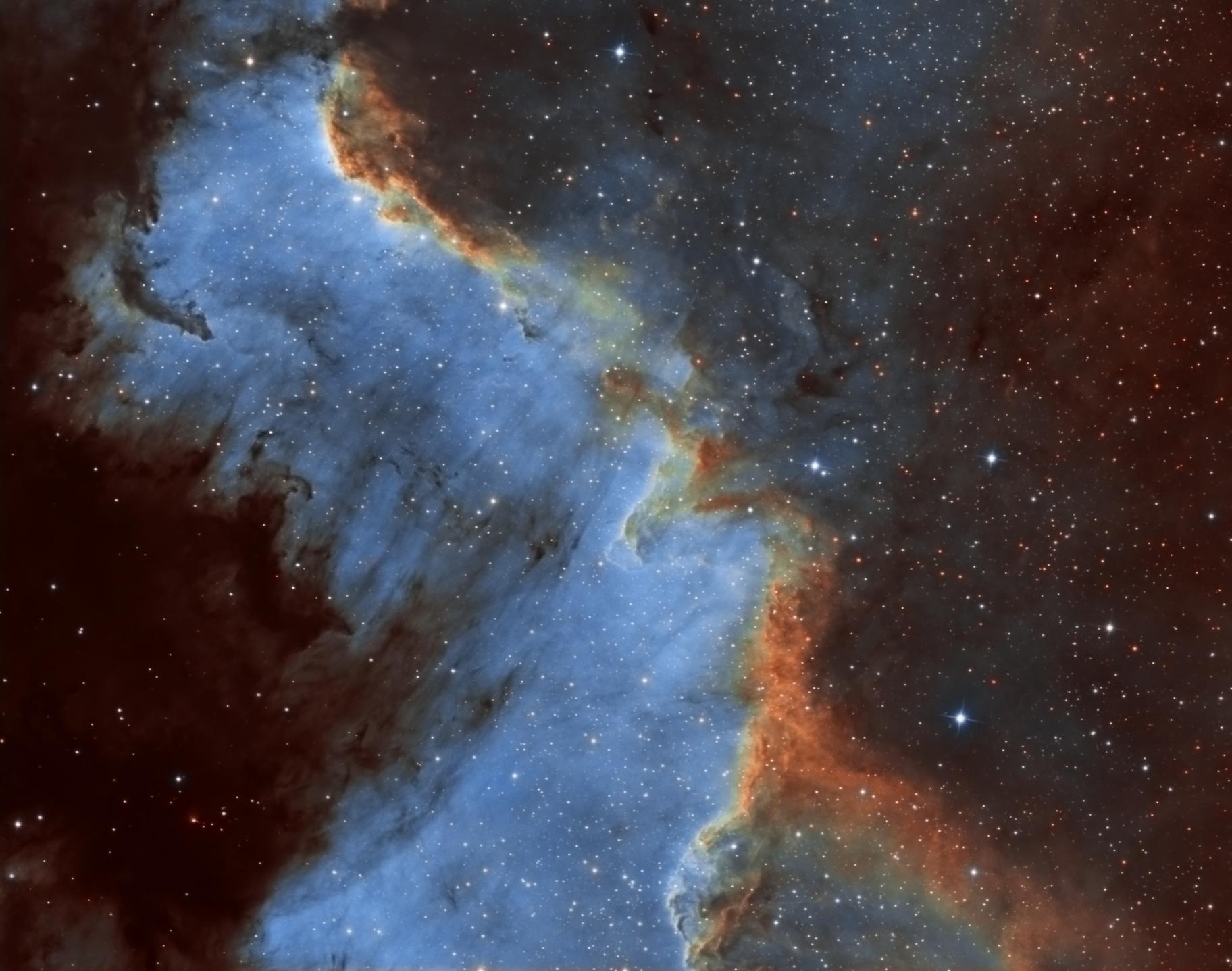 NGC 7000 SHO,                                Le Mouellic Guill...