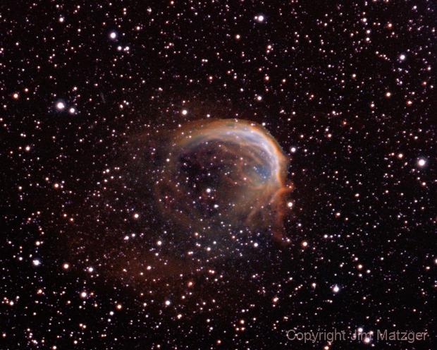 Dolphin Nebula - Sh2-188  NII+HA+OIII,                                Jim Matzger
