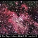 M16, The Eagle Nebula, UHC-S (reprocessed), 22 June 2012,                                David Dearden
