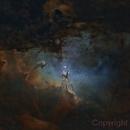 M16 Eagle Nebula SHO nostars,                                CoFF