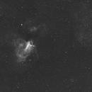 M17 Omega Nebula-Ha-Meade 80 ED triplet-Orion flattener-ASI 1600 MM-Pro,                                Adel Kildeev