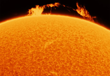 A wider view of the huge prominence today - 24 Feb 2021,                                Norman Tajudin