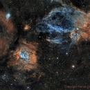 Bubble Nebula, SH2-157, M52 and a few extras too!  2 pane Mosiac,                                Paddy Gilliland
