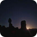Moon rising over Balanced Rock, Arches NP, Utah,                                Uwe Deutermann