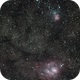 Trifid and Lagoon Nebulae,                                Jeff Thompson