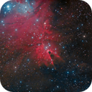 Part of the cone nebula, a Ha, color image,                                Niels V. Christensen