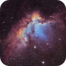 NGC7380 - the wizard nebula - new version with better Halpha,                                Arnaud Peel