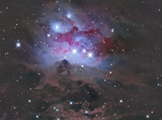 The Running Man Nebula,                                Mark
