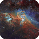 NGC 3576 The Statue of Liberty Nebula In SHO,                                johnnywang