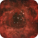 Rosette nebula close-up in dual narrowband,                                Janos Barabas