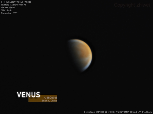 Venus in IR690nm-UV on February 22nd, 2020,                                zhiwei