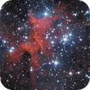 Melotte 15 or IC 1805 in LRGB,                                John
