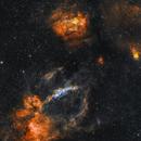 Lobster Claw Nebula (SH2-157) and the Bubble Nebula (NGC 7635),                                David Grant