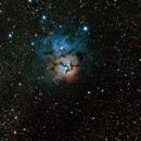 Messier 20 Trifid nebula,                                JoeRez