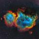 Soul Nebula (SH2-199) in SHO-LRGB,                                equinoxx