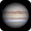 Jupiter with Ganymede,  Io and Io's shadow in transit and the new NTB breakout #2,                                Niall MacNeill