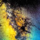 Antares Mars Saturn in Milky Way,                                Tom Robbe
