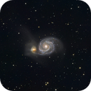 M51 The Whirlpool Galaxy,                                AstroBadger