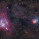 Lagunen- und Trifidnebel M8, M20,                                Johannes Hildebrandt