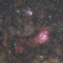 Sagittarius Star Cloud, M8, and M20,                                Christopher Schementi