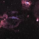 SH2-157 Lobster Claw Nebula widefield,                                John