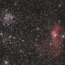 Bubble nebula and M52,                                Maxime Delin