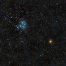 Mars meets Pleiades (M45) 2021-02-26 - Final Cut,                                AstroHannes68