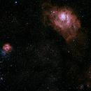 Trifid and Lagoon Nebulae,                                Ian Stephenson