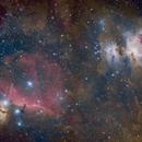 Orion/Horsehead/Flame Nebulae wide field,                                Dean Fournier