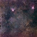 Omega and Eagle Nebulae,                                Jens Giersdorf