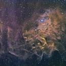 Flaming Star Nebula in HSB,                                legova
