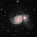 M51, Whirlpool Galaxy, LRGB, 26 Feb 2020,                                David Dearden