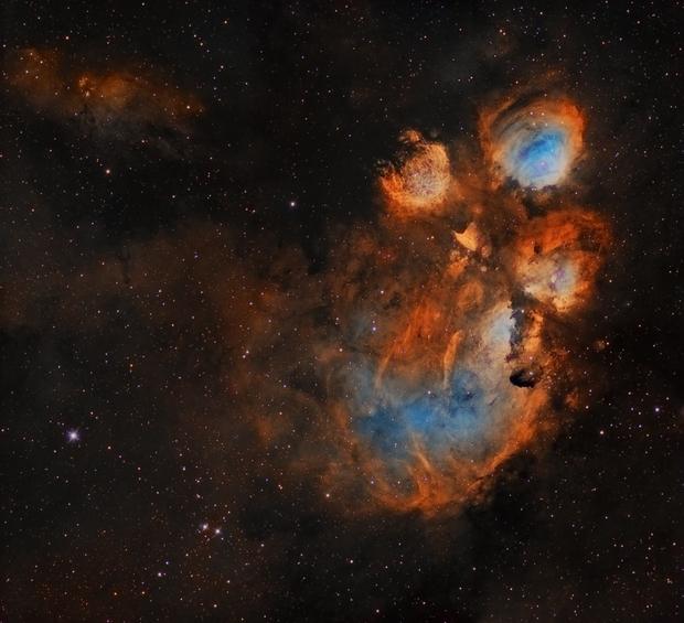 NGC 6334 - Cats Paw, Narrow Band,                                George Varouhakis