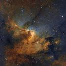 Cave Nebula (Sh2-155) widefield in HSTrgb,                                Jose Carballada