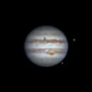 Jupiter, Europa transit w/ shadow, Ganymede,                                Damien Cannane