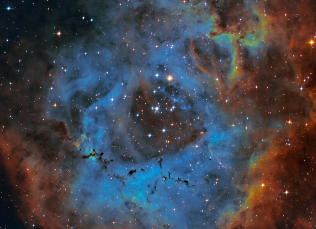 NGC 2244 Rosette Nebula in SHO,                                Roland Schliessus